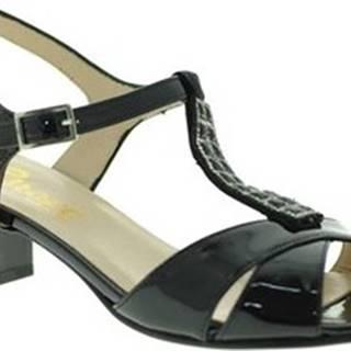 Sandály E8128 Černá