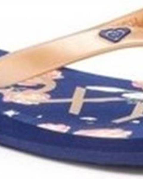 Modré pantofle roxy