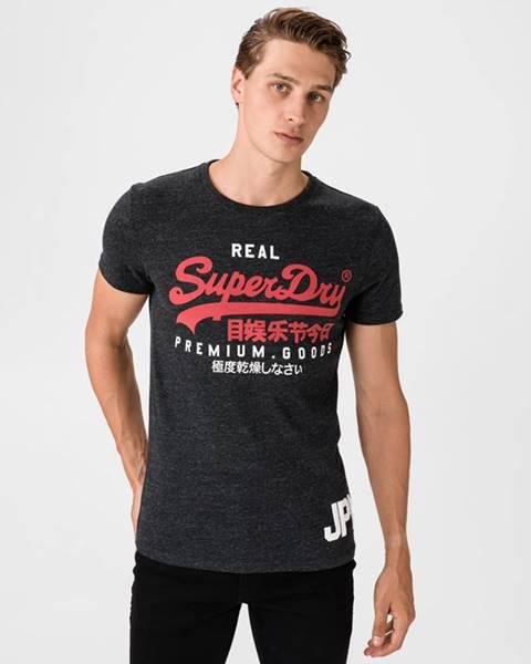Černé tričko superdry