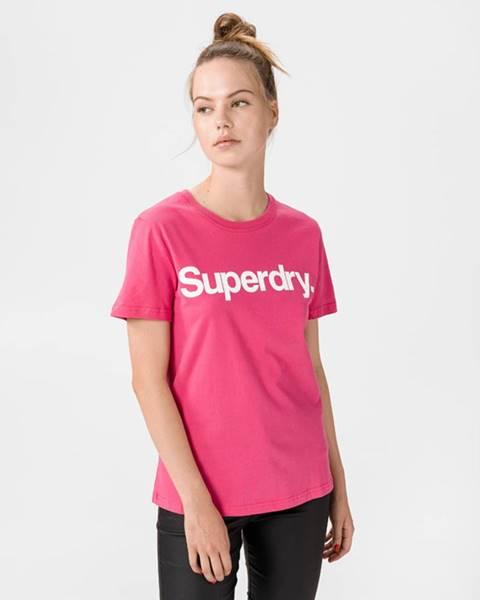 Růžový top superdry