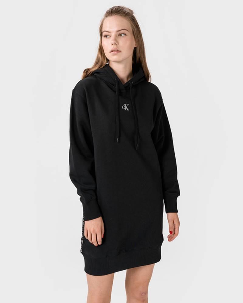 Calvin Klein Outline Logo Šaty Černá