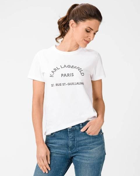 Bílý top karl lagerfeld