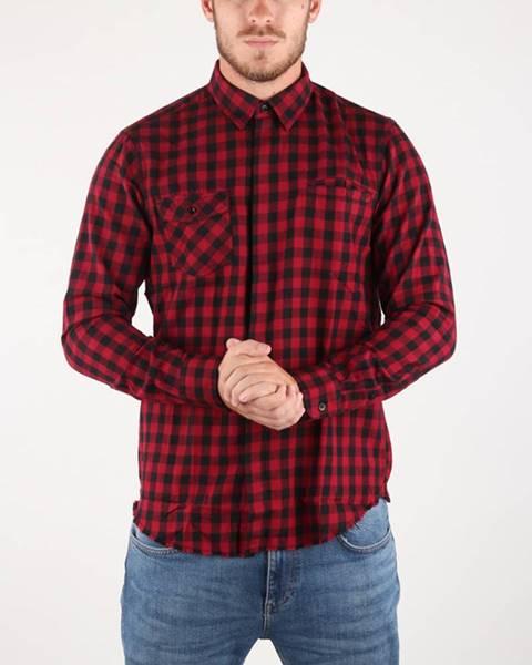 Černá červená košile GAS