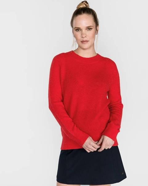 Červený svetr tommy hilfiger