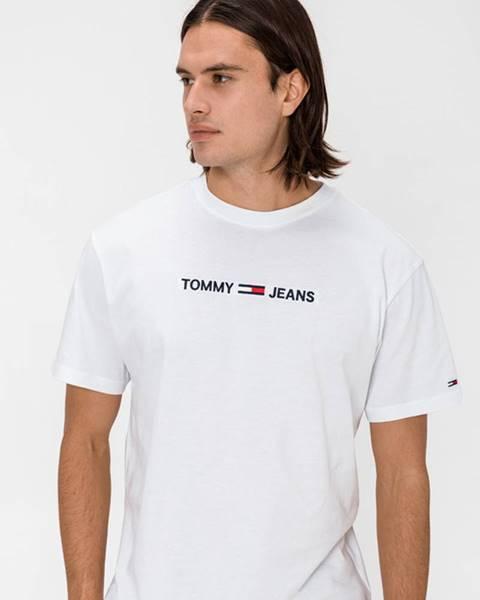 Bílé tričko Tommy Jeans