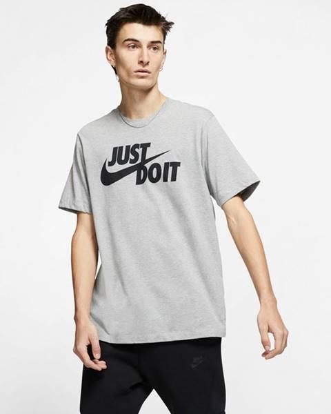 Šedé tričko nike