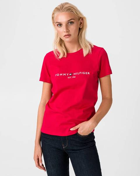 Červený top tommy hilfiger