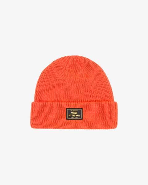 Oranžová čepice vans