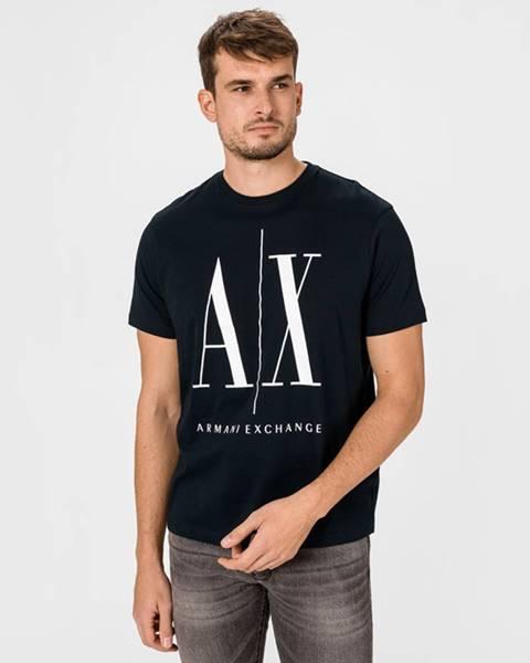 Modré tričko Armani Exchange