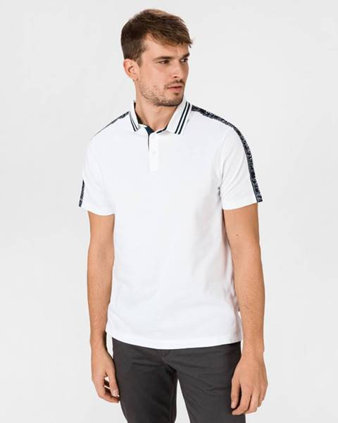 Bílé tričko Armani Exchange
