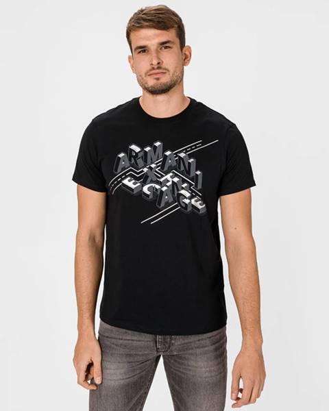 Černé tričko Armani Exchange