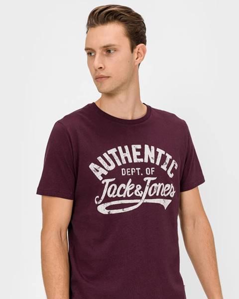 Červené tričko jack & jones