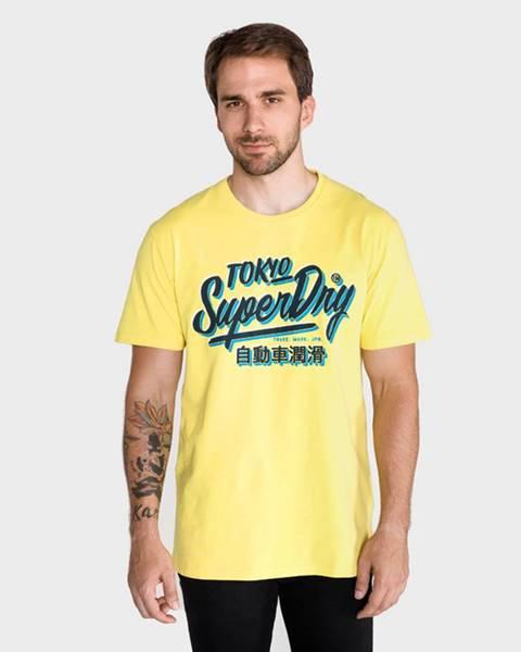 Žluté tričko superdry