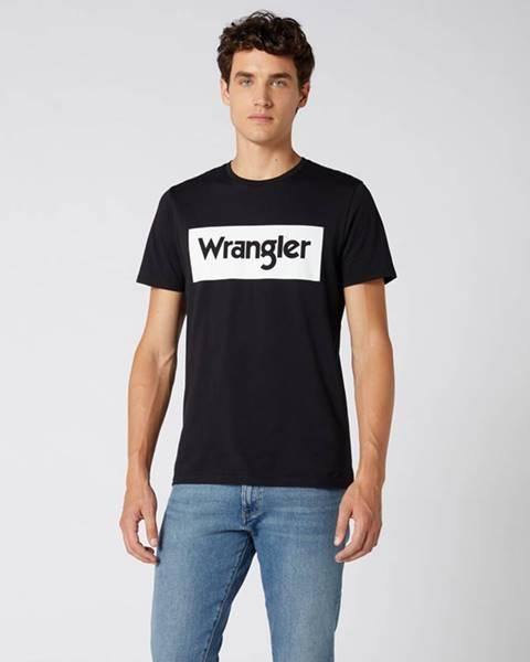 Černé tričko wrangler