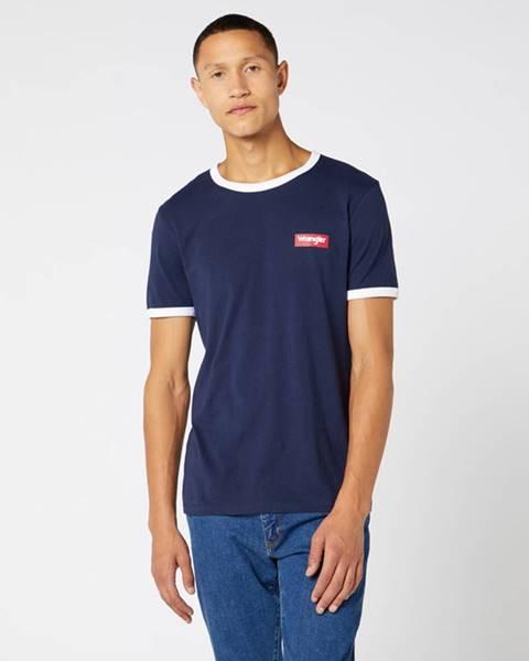 Modré tričko wrangler