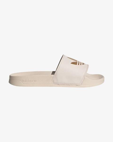 Béžové pantofle adidas originals