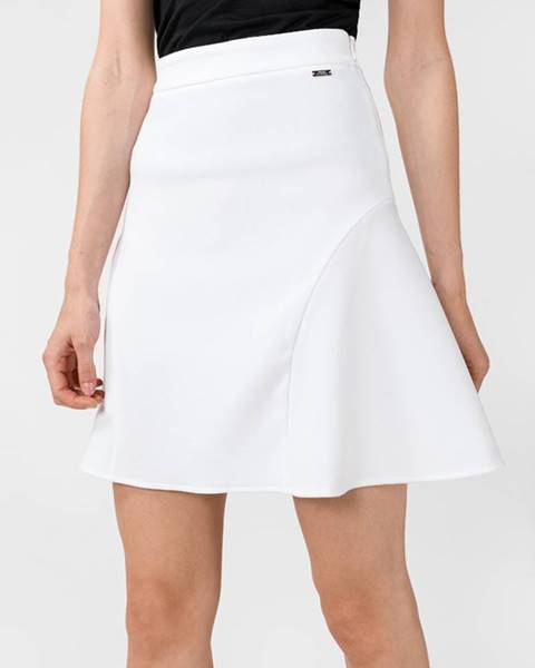 Bílá sukně Armani Exchange