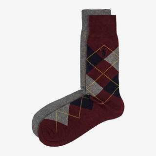 Ponožky 2 páry Červená Šedá