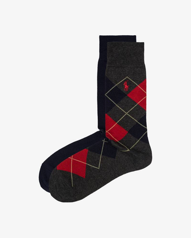 Polo Ralph Lauren Ponožky 2 páry Modrá Šedá