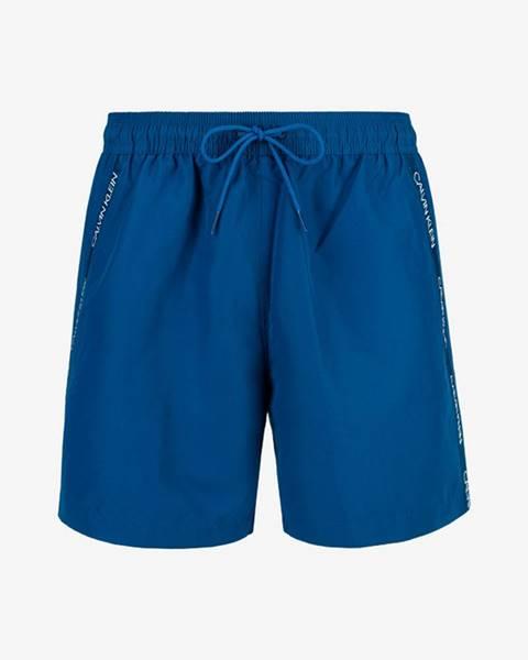 Modré plavky Calvin Klein