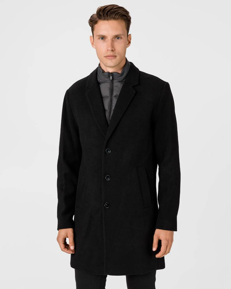 jack & jones Blamoulder Kabát Černá