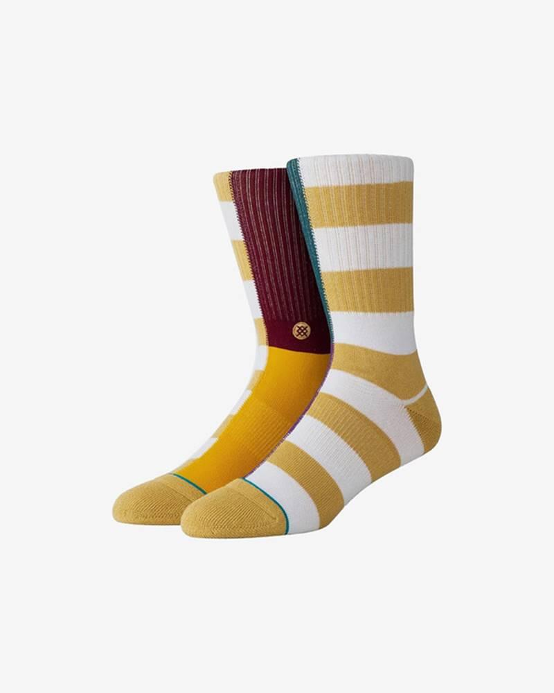 Stance Split Check Ponožky Žlutá Bílá