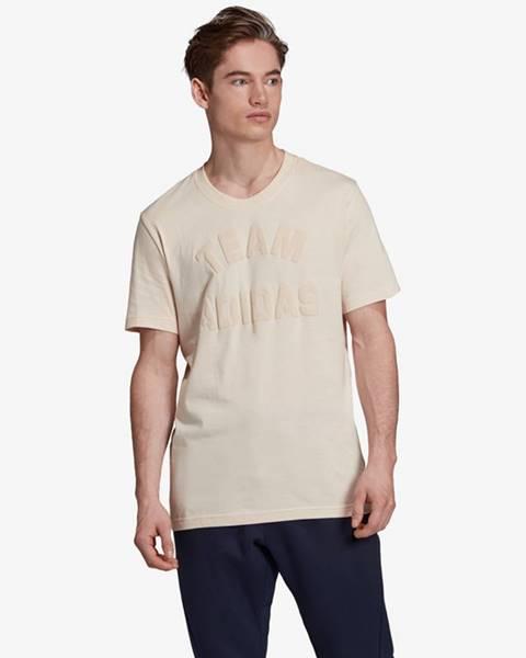 Béžové tričko adidas performance
