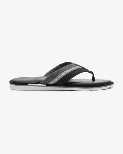Černé pantofle pepe jeans