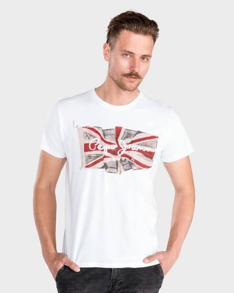 Bílé tričko pepe jeans