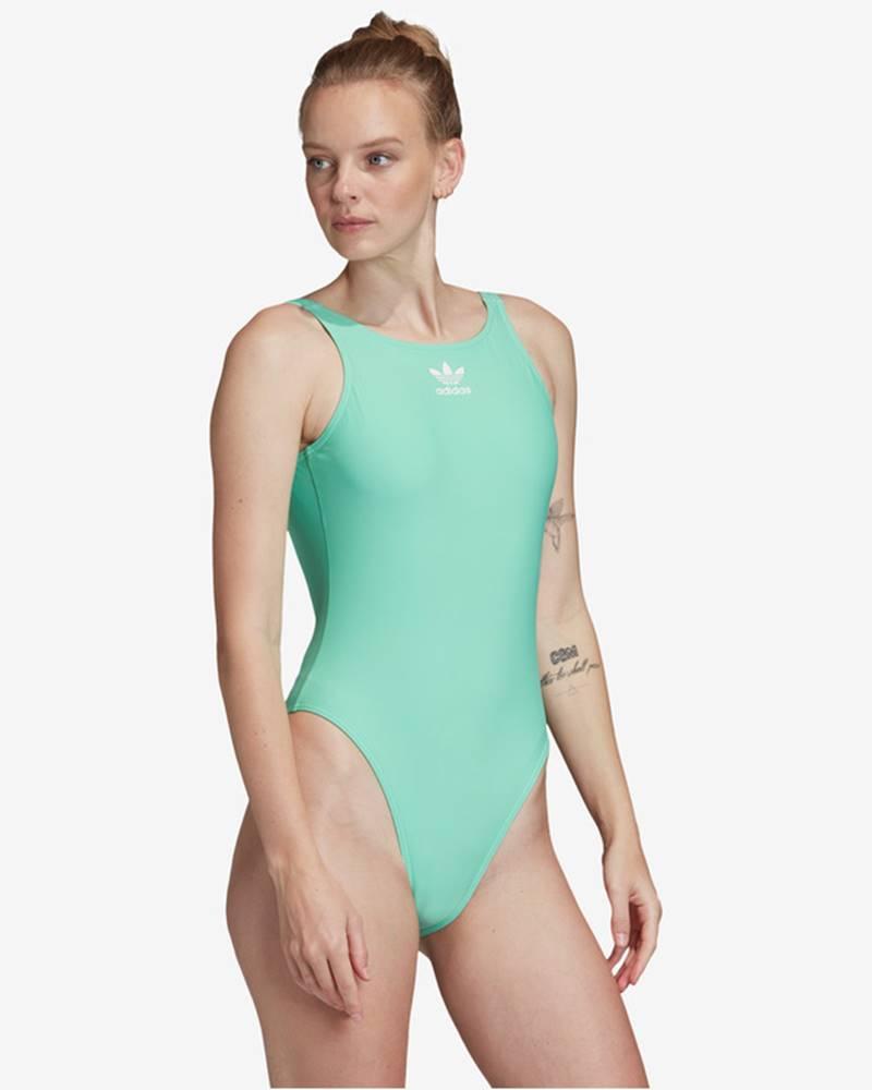 adidas originals Trefoil Jednodílné plavky Modrá Zelená