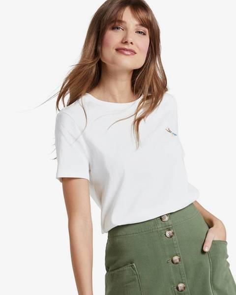 Bílý top tom tailor denim
