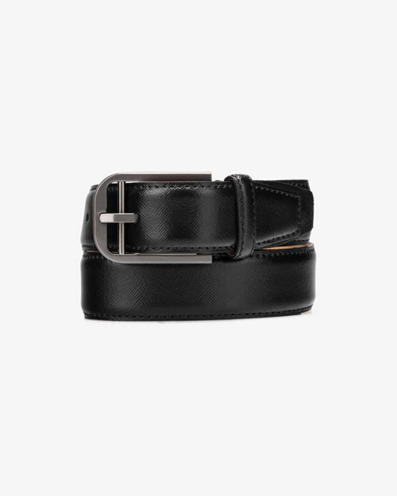 Calvin Klein Double Bar Buckle Pásek Černá