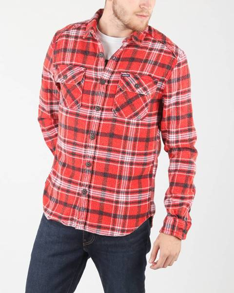 Červená košile superdry