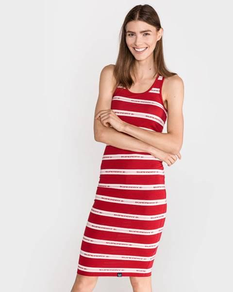 Červená sukně superdry