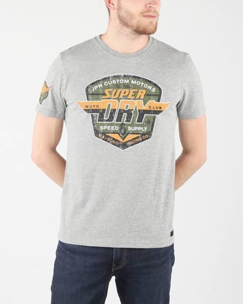Šedé tričko superdry