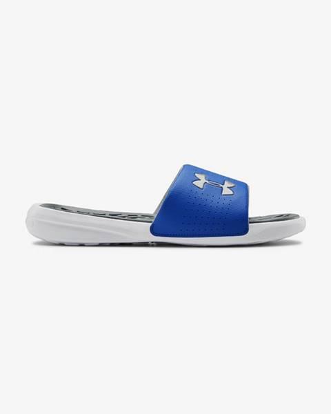 Modré pantofle under armour