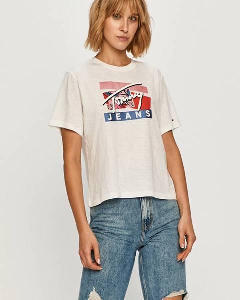 Bílý top Tommy Jeans