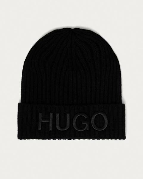 Černá čepice HUGO