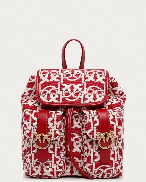 Červený batoh Pinko