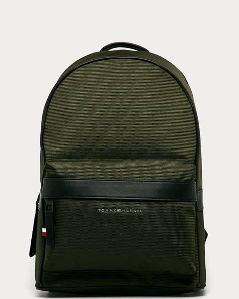 Zelený batoh tommy hilfiger