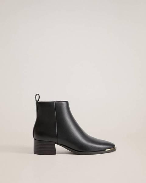 Černé boty Mango