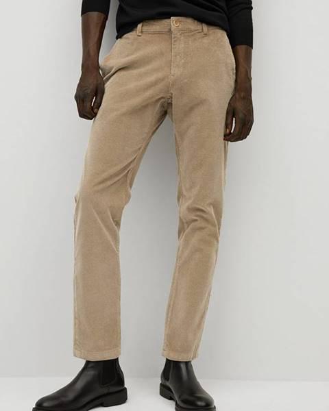 Béžové kalhoty Mango Man