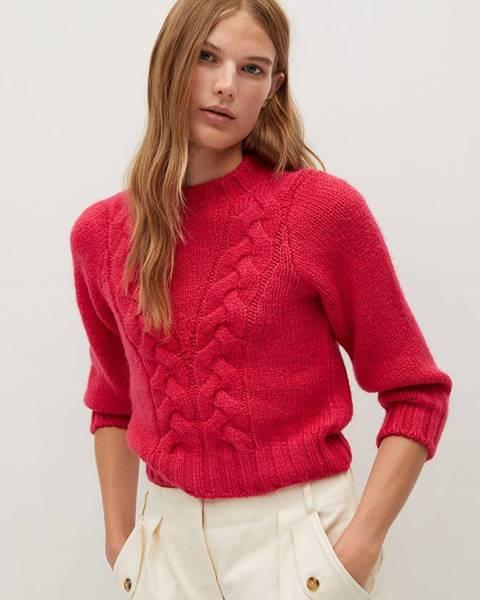 Růžový svetr Mango