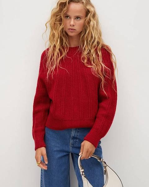 Červený svetr Mango