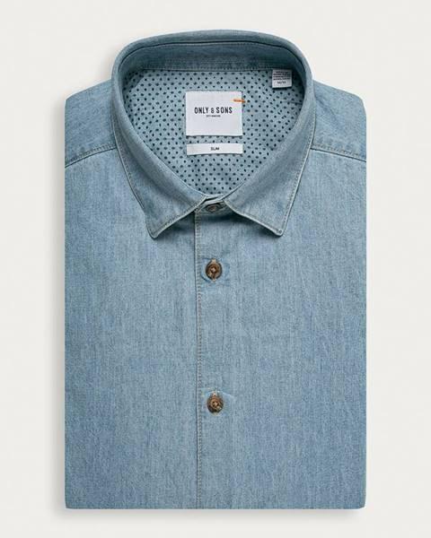 Modrá košile only & sons
