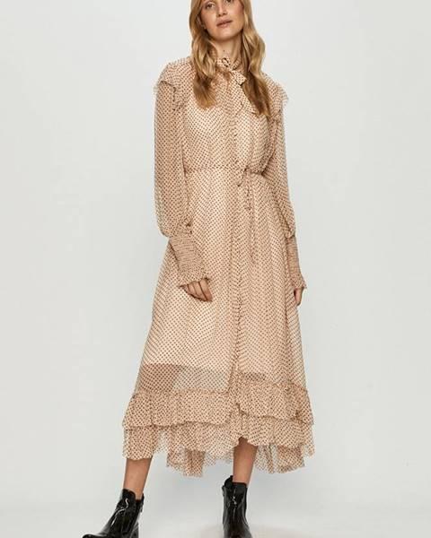 Růžové šaty AllSaints
