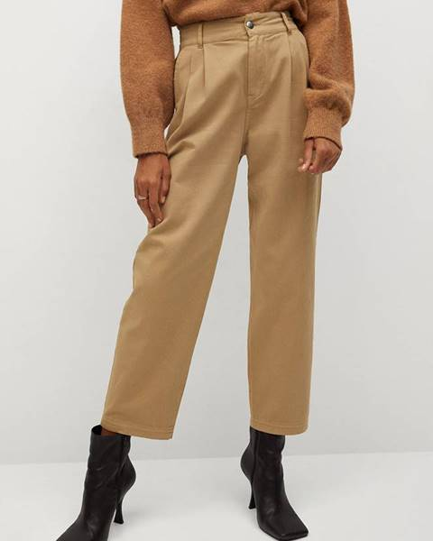 Béžové kalhoty Mango