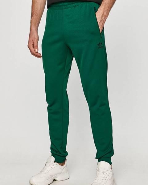 Zelené kalhoty adidas originals
