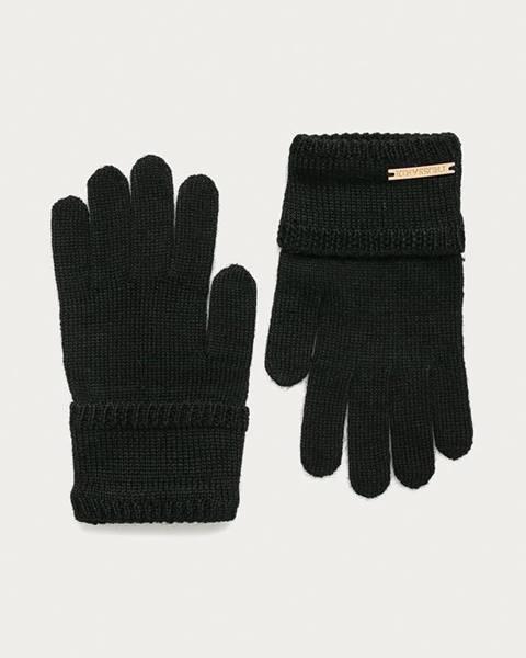 Černé rukavice Trussardi Jeans