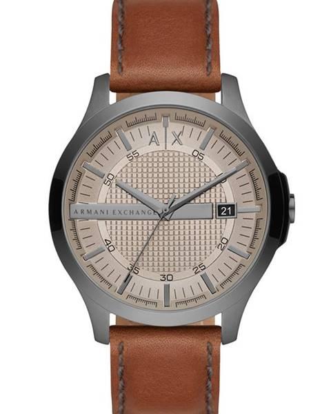 Hnědé hodinky Armani Exchange